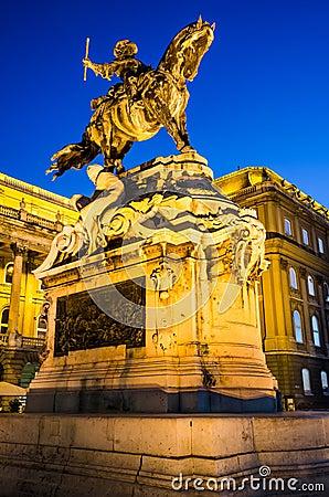 Statua Eugene Savoy, Buda kasztel