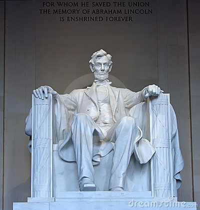 Statue of Abraham Lincoln in the Lincoln Memorial