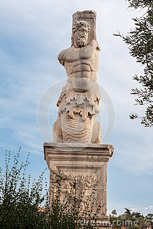 Statue in Ancient Agora Athens