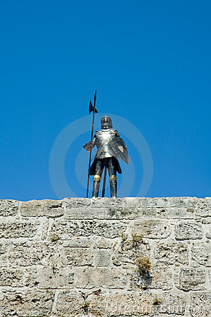 Statue of armor of the Knights of St. John