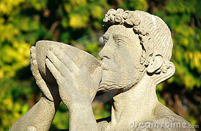 Statue Of Bacchus The Roman God of Wine