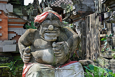 Statue of Balinese demon in Ubud