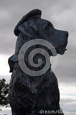 Statue of Bamse St Bernard