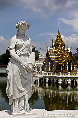 Statue at Bang Pa-In Palace Ayutthaya Thailand