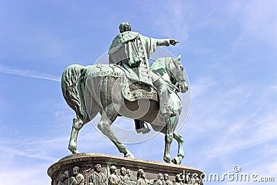 Statue of bronze horseman