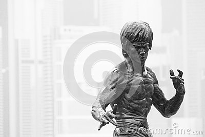 Statue Bruce Lee Editorial Photography