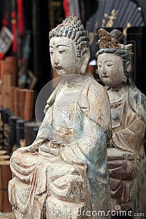 The statue of Buddha.