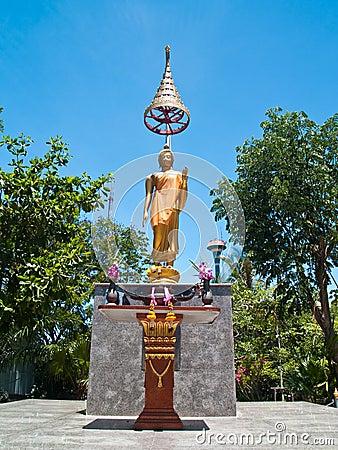 Statue of Buddha Abhaya Mudra posture
