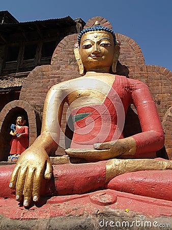Statue of Buddha located at Swayambhunath