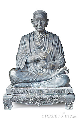 Statue of buddhist monk