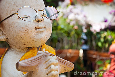 Statue of Buddhist novice