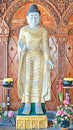 Statue in buddhist temple