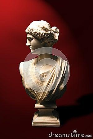 Statue Bust of a Roman Goddess