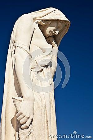 Statue at Canadian war memorial monument.