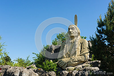 A statue of the Chief  Sitting Bull  Editorial Photo