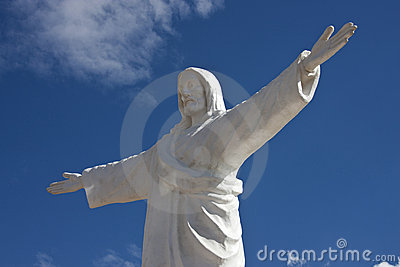 Statue of Christ above Cuzco in Peru