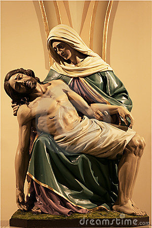 Statue of Christ and Mary