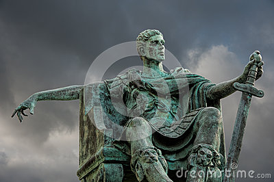 Statue of Constantine Editorial Photography
