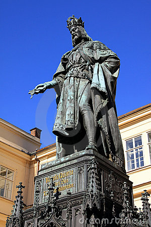 Statue of the Czech King Charles IV. in Prague