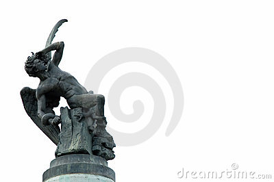 Statue d ange tombé Madrid