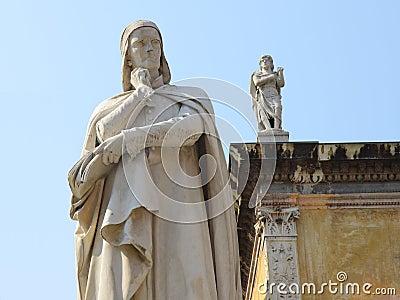 Statue of Dante in Verona