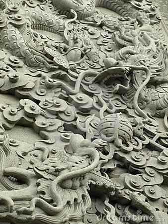 Statue de maçonnerie de dragon