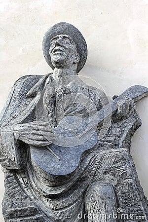 Statue de musicien