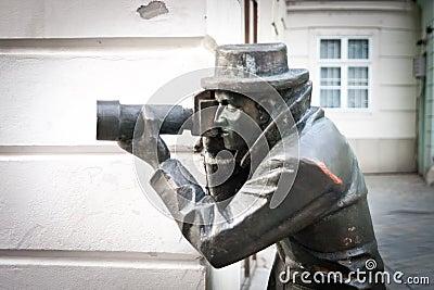 Statue de paparazzi