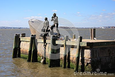 Statue de pêcheurs