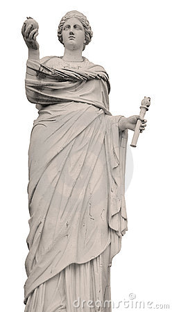 statue of Demeter from Greek mythology, holding a pomegranate and a ...