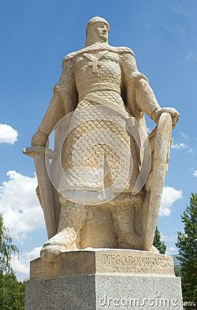 Statue of Diego Rodriguez, Burgos. Spain