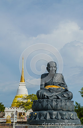 Statue of a famous monk