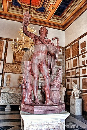 Free Statue Faun In Rouge Antique Marble In Museum Capitolini, Rome Italy Stock Photo - 55104550
