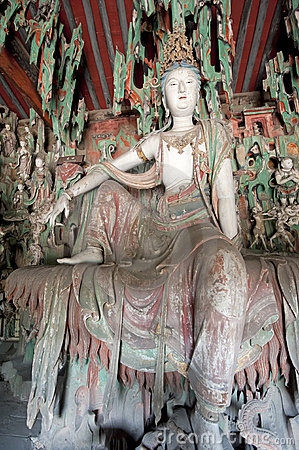Statue of female buddhist deity