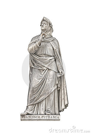 Statue of Francesco Petrarca, founder of humanism