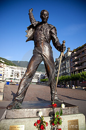 Statue of Freddie Mercury Editorial Stock Photo