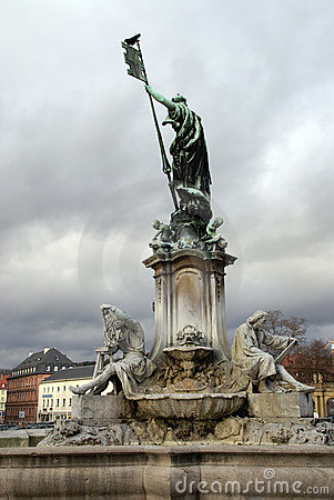 Statue in front of the Würzburg Residenz