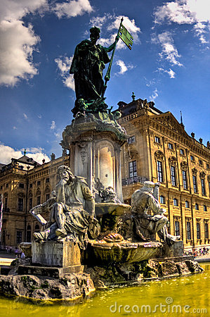 Statue in front of the Wurzburg palace