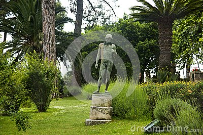 Statue in a garden