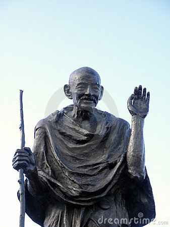 Statue of Ghandi Editorial Photography