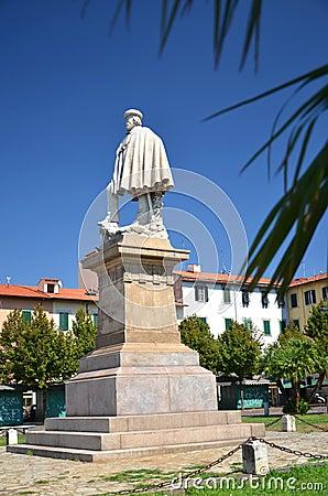 The statue of Giuseppe Garibaldi in Livorno, Italy