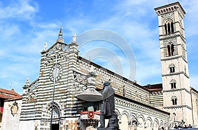 Statue of Giuseppe Mazzoni near Duomo, Prato