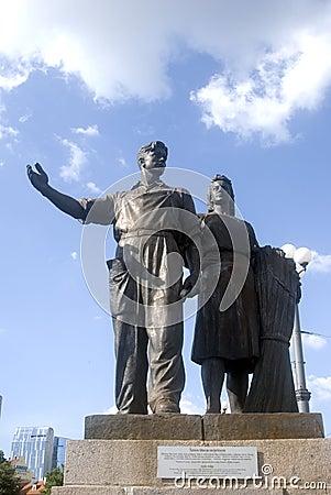 Statue on Green Bridge, Vilnius, Lithuania