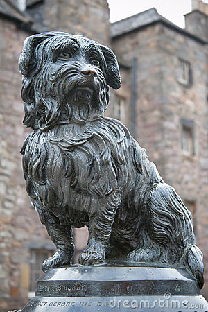 Statue of Greyfriars Bobby, a famous Terrier