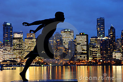 Statue of Harry Winston Jerome, Vancouver, Canada Editorial Image