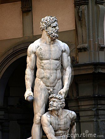 Statue of Hercules and Cacus in Florence