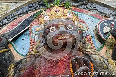 Statue of Hindu god-Kali