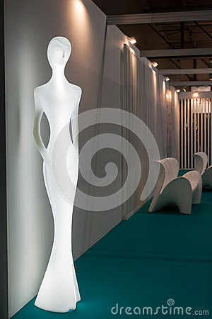 Statue at Host 2013 in Milan, Italy Editorial Image