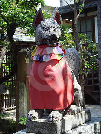 Statue of Japanese Fox Spirit