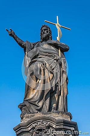 Statue of Jesus on Charles Bridge